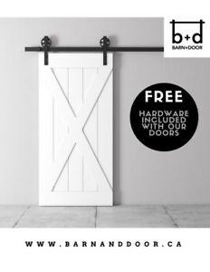 PREMIUM BARN DOORS + FREE HARDWARE