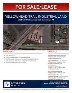 Yellowhead Trail Industrial Land for Sale/Lease