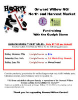 Onward Willow NE Harvest Market Fundraising with Guelph Storm