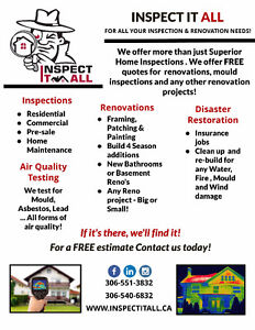 Home Inspections $50 off for Feb & March 2017!! Regina Regina Area image 4
