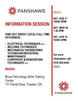 Fanshawe College-Information session  Tiverton, ON