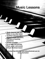 Affordable Piano, Guitar, and Ukulele Lessons