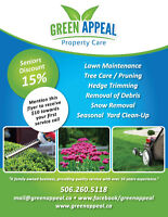 Landscaping, tree trimming, lawn care and lawn mowing services.