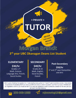Private Tutor: 3rd-year UBCO Student with 5 years of Experience