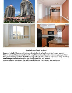 ONE BEDROOM CONDO FOR RENT AT SQUARE ONE