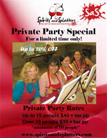PRIVATE PAINT PARTY SPECIAL!