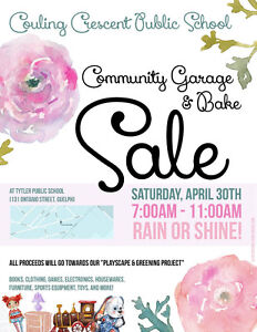 Community Garage and Bake Sale - Couling Crescent Public School