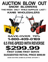 SNOW  BLOWERS 6.5 TWO-STAGE 5 SPEED WITH REVERSE