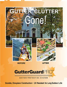 GUTTER CLUTTER GONE STOCKED B.C. 5000 INSTALLED HOMES