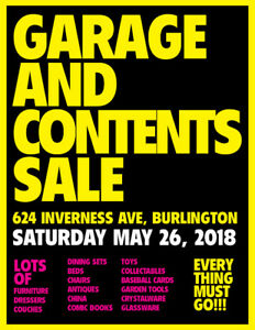 Garage & Contents Sale in Burlington