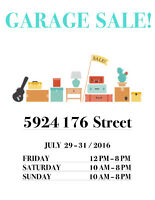 August Long Weekend Garage Sale!