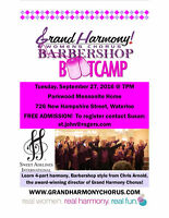 Barbershop Bootcamp with Grand Harmony Chorus!