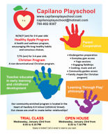 Capilano Playschool Trial Class and Open House