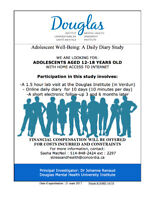 DO YOU KNOW AN ADOLESCENT BETWEEN THE AGES OF 12-18? $50 COMPENS