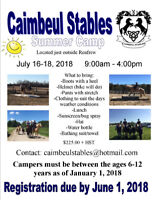 Caimbeul Stables is proud to present 'SUMMER CAMP'