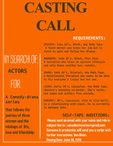 CASTING BLACK ACTRESS FOR COMEDY TV SERIES