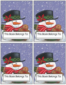 Gingerbread Snowman Bookplates London Ontario image 1
