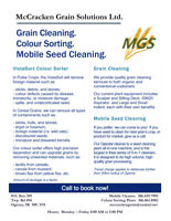GRAIN CLEANING, COLOUR SORTING, MOBILE SEED CLEANING