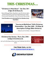 """Christmas in West Brant"" presented by Generations Church"