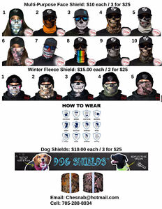 Face masks for hunting, fishing, riding