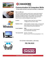 Communication and Computer Skills, Parry Sound