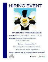 Hiring Event- Southland Transportation
