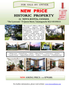 Historic Home in Tatamagouche  REDUCED PRICE!