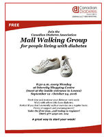 Mall Walking Group for People Living With Diabetes
