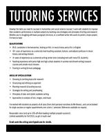 Tutor for Writing, Research, Analysis