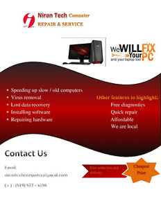 PC and laptop repair and service (Hardware & Software)