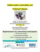 Healthy volunteers for study on Smell, Caffeine and Parkinson's