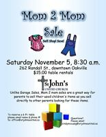 Mom 2 Mom - used clothes/toys sale (Oakville)