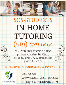 IN HOME TUTORING SERVICE