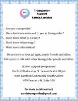Transgender Group Sarnia Lambton