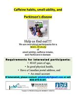 Healthy volunteers needed for study on caffeine and Parkinson's