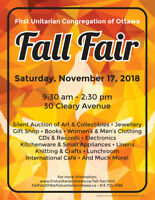 Fall Fair at First Unitarian (Church Bazaar)