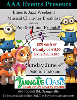Musical Character Breakfast with our Pup and Minion Friends