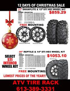 "STI 12"" Wheels & Interco 27"" Tire COMBO  Set at  ATV TIRE RACK"