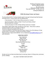 Slovak Legion Christmas Dinner and Dance Party Dec 8 LIVE BAND