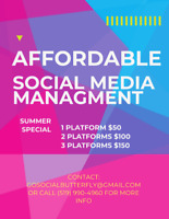 AFFORDABLE SOCIAL MEDIA MANAGER