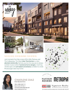 Brand New Town Homes For Sale+Mississauga+Erin Mills+VIP Pricing