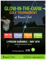 Glow in the dark golf tournament in support of CNIB on May 18