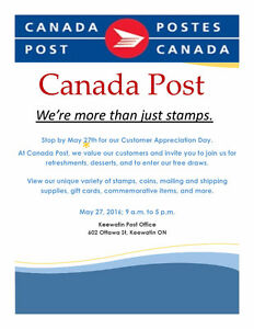 KEEWATIN POST OFFICE CUSTOMER APPRECIATION DAY