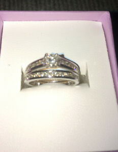 Engagement and Wedding rings set for Bride and Groom