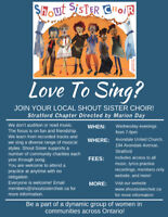 Stratford Shout Sister Choir is Welcoming New Members!