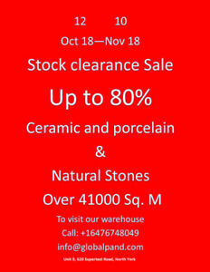 Ceramic and Porcelain Tile Clearance Sale