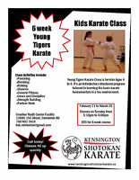 6 Week Young Tigers Karate (Ages 4 - 6)