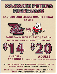 Discounted Playoffs Petes Ticket for Saturday 25th!