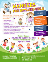 Summer Camp Mississauga Kids Manners