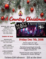 A Country Christmas Concert featuring Matt James and Missy Dawn